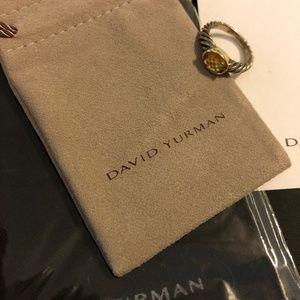 David Yurman Citrine Gemstone Ring Sz 7